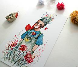 Grafika - Prijmeš moje ruže? /print - 12381662_