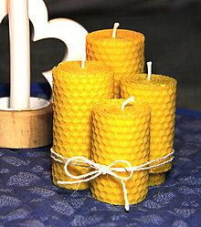 Svietidlá a sviečky - adventné sviečky z včelieho vosku - 12381491_