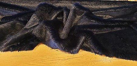 Textil - Kožušina umelá - elegantná tmavomodrá - cena za 10 cm - 12383120_