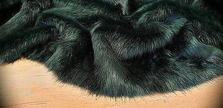 Textil - Kožušina huňatá - Dark Emerald - cena za 10 cm - 12383136_