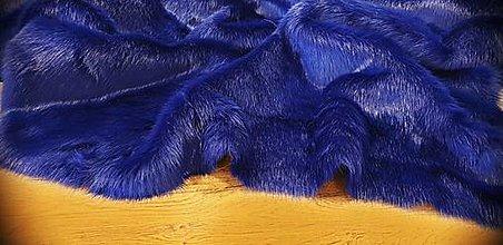 Textil - Kožušina umelá - elegantná kráľovská modrá - cena za 10 cm - 12383151_