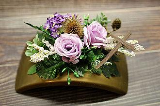 Dekorácie - Fialové ružičky - 12382882_