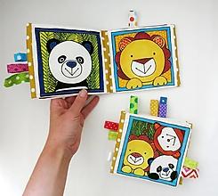 Hračky - Textilná knižočka  (Zvieratká z exotiky) - 12380720_