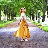 Sukne - MILENA - ľanová maxi zavinovacia sukňa (Iná - podľa vzorkovníka) - 12382566_