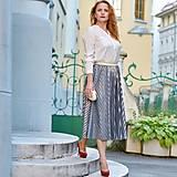 """- Plisovaná sukňa - skladom """"rôzne farby"""" (midi šedá so zlatým odleskom) - 12382957_"""