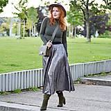 """- Plisovaná sukňa - skladom """"rôzne farby"""" (tmavostrieborná) - 12382960_"""
