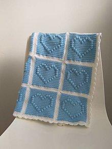 Textil - Modrá deka - 12380706_