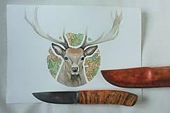 Nože - Damaškový nôž - 12383363_