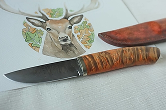Nože - Damaškový nôž - 12383362_
