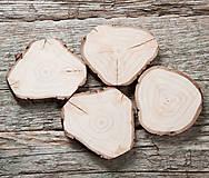 Dekorácie - Drevené pláty nepravidelné - balenie 4 ks - 12379914_