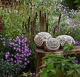 Svietidlá a sviečky - záhradná guľa - svietnik - 12380899_