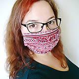 Rúška - Ochranné rúško na tvár s drôtikom - dvojvrstvové - 12383132_