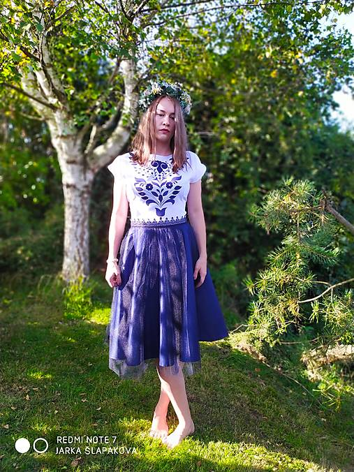 Šaty -  Ručne maľované popolnočné šaty - 12379229_