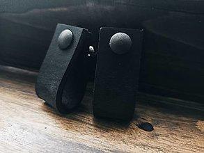 Nábytok - Kožené úchytky na nábytok - little black - 12381696_