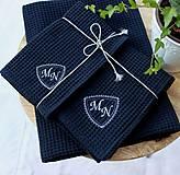 Úžitkový textil - Darčekový set uterákov pre PÁNA ♥ (s monogramom) - 12385883_