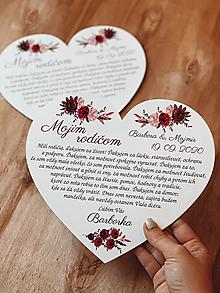 Darčeky pre svadobčanov - Poďakovanie rodičom 59 srdce ružičky - 12385551_