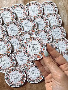Darčeky pre svadobčanov - Magnetky pre svadobčanov venček 23 - 12385603_