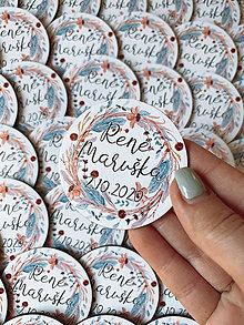 Darčeky pre svadobčanov - Magnetky pre svadobčanov venček 21 - 12385605_