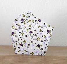 Rúška - Bavlnené rúško - Kvety - 12386600_