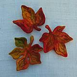 Odznaky/Brošne - ...plstená brošňa - jesenný list... - 12387387_
