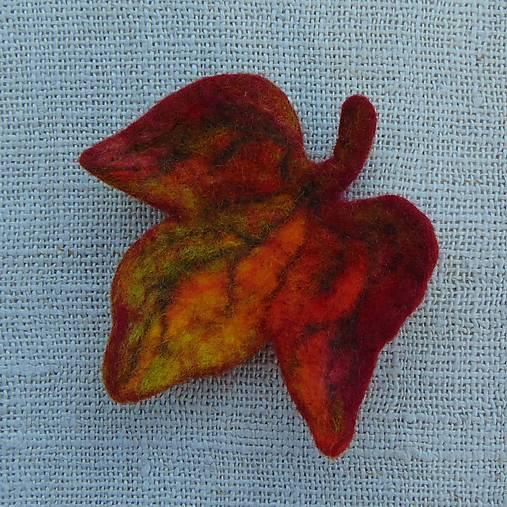 ...plstená brošňa - jesenný list...