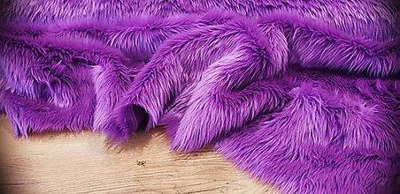 Textil - Kožušina umelá - Fialová - cena za 10 cm - 12383672_