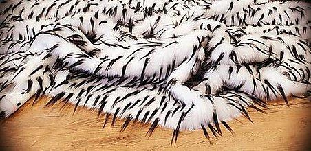 Textil - Umelá kožušina - kráľovska biela - cena za 10 cm - 12383684_