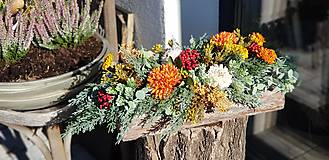 Dekorácie - Jesenný aranžmán v kôre - 12387386_