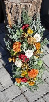 Dekorácie - Jesenný aranžmán v kôre - 12387388_