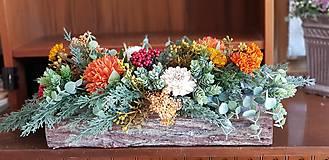 Dekorácie - Jesenný aranžmán v kôre - 12387390_
