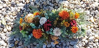 Dekorácie - Jesenný aranžmán v kôre - 12387391_