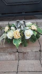 Dekorácie - väčšia zaťažená ikebana na hrob s anjelom 45  cm - 12386056_
