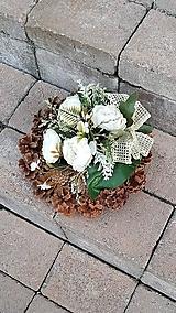 Dekorácie - šiškový veniec na hrob 26  cm - 12386246_