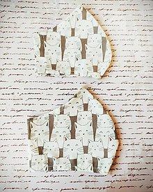Rúška - 1vrstvové rúško, v dobrej spoločnosti bielych mačiek - 12383576_