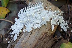Ivory svadobný hrebienok do vlasov 3