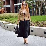 - Plisovaná sukňa z exkluzívneho lamé - 12384231_
