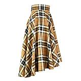 """- SCOTT - asymetrická sukňa """"škótske káro"""" (A3 - Béžové káro) - 12384468_"""