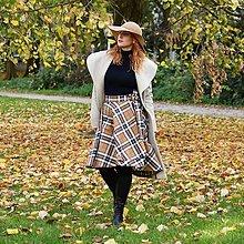 Sukne - KYLIE - škótska asymetrická zavinovacia sukňa (INÁ - podľa vzorkovníka) - 12384400_