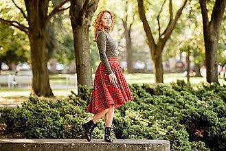 """Sukne - SCOTT - asymetrická sukňa """"škótske káro"""" (INÁ - podľa vzorkovníka) - 12384435_"""