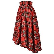 """Sukne - SCOTT - asymetrická sukňa """"škótske káro"""" (A1 - Červené káro) - 12384452_"""