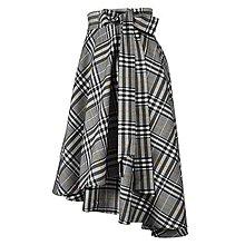 Sukne - FIONA - asymetrická zavinovacia sukňa (F1 - čiernobiele s horčicovým prúžkom) - 12385186_