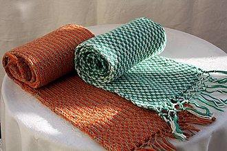 Šály - Šál. Vlnený šálik pletený žakárovou technikou. - 12384629_