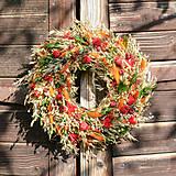 Dekorácie - Prírodný venček na dvere - 12384775_