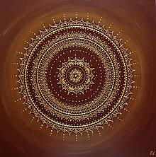 Obrazy - Mandala STABILITA (brown) 60 x 60 - 12386897_