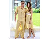 Pyžamy a župany - Lotus - hodvábny set pre dvoch - 12386669_