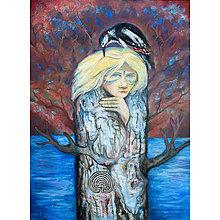 Obrazy - Žena v strome - 12386831_