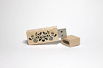Drobnosti - DREVENÉ USB_NA ĽUDOVÚ NÔTU - 12385954_