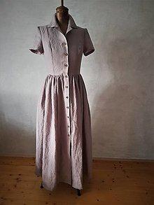 Šaty - dlhé ľanové - 12384307_