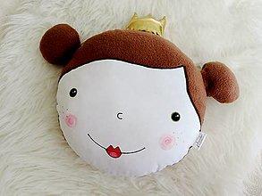 Textil - Vankúšik - princezná 3D - 12385173_
