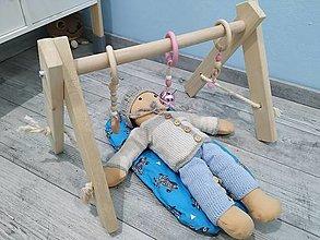 Hračky - minindrevená hrazdička pre bábiky,hračka hrazdička - 12386873_